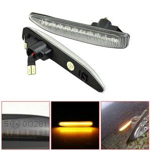Image 3 - الجانب ماركر مصابيح لسيارة BMW E65 E66 E67 2001 2008 LED بدوره مصباح إشارة مؤشر مكرر متتابعة الوامض