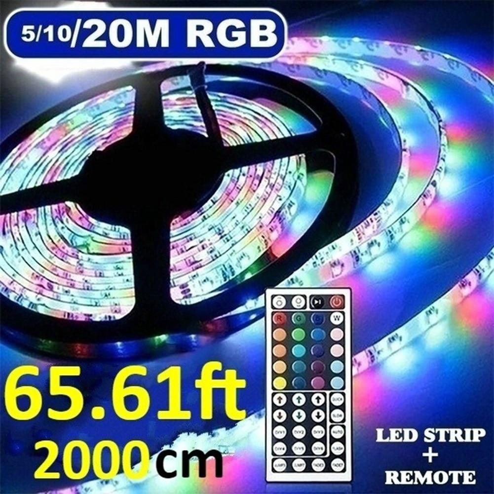 Гибкая светодиодная лента RGB SMD 3528, 5/10/20 м, 12 В постоянного тока