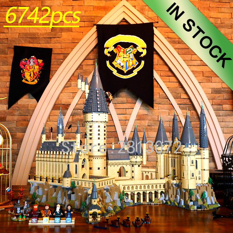 16060 In Stocks Movie H Warts Castle School Magic Model 6742pcs Building Block Brick Compatible With 71043 75948 16030/4842 Toys