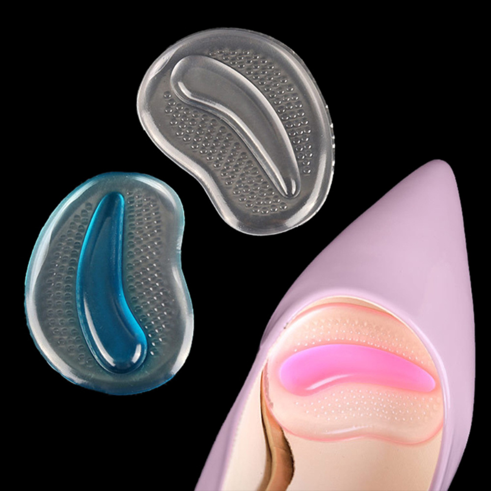 Hot 1 Pair Transparent Gel Silicone Forefoot Pads Insoles For High Heels  Women Anti-Slip Pain Relief Shoe Inserts Massager