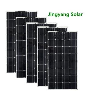 Image 1 - 200 ワット 300 ワット 400 ワット 500 ワット柔軟なソーラーパネル等しい 2pccs 3 個 4 個 5 個 100 ワットのパネルソーラーモノラル太陽電池用ボート/カー/ホーム屋根