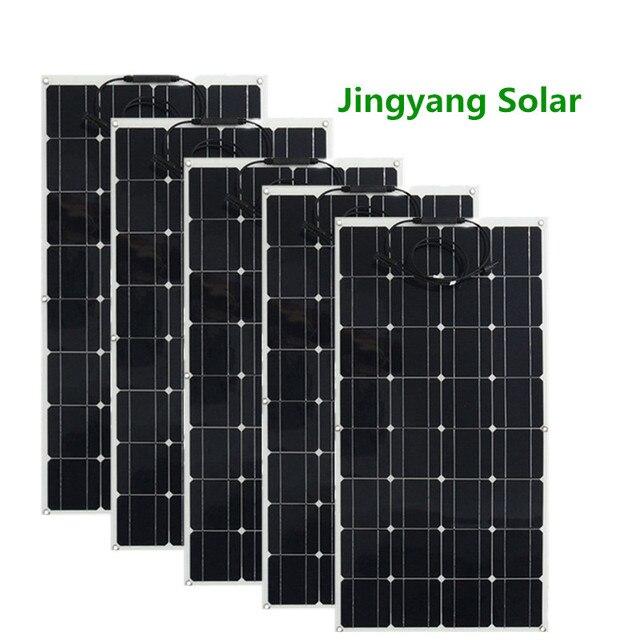 200 ワット 300 ワット 400 ワット 500 ワット柔軟なソーラーパネル等しい 2pccs 3 個 4 個 5 個 100 ワットのパネルソーラーモノラル太陽電池用ボート/カー/ホーム屋根