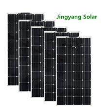 200W 300W 400W 500W גמיש פנל סולארי שווה 2pccs 3pcs 4pcs 5pcs של 100w פנל סולארי מונו תאים סולריים סירה/רכב/בית גג