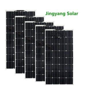Image 1 - 200W 300W 400W 500W esnek GÜNEŞ PANELI eşit 2pccs 3 adet 4 adet 5 adet 100w paneli güneş mono güneş pili için tekne/araba/ev çatı