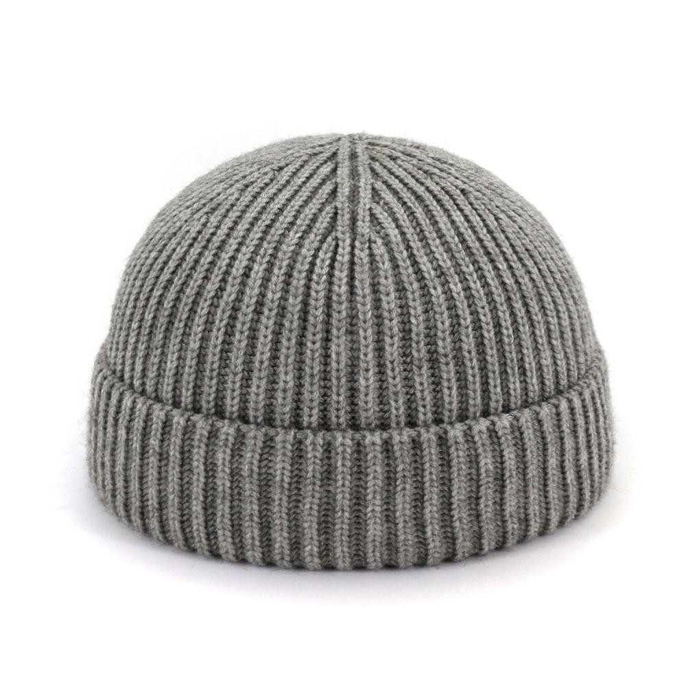 Casual Knitted Hat Autumn And Winter Couple's Wool Hat Melon Leather Hat Warm Hat Men's Hat