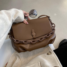 Designer Luxe Merk Vintage Pu Leather Chain Crossbody Handtassen En Portemonnees 2021 Mode Dame Eenvoudige Schoudertas Sac A Main