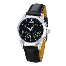 Azan Horloge Voor Moslim Gebed Met Iqama Alarm Qibla Kompas Hijri Al Harameen Horloge Met Fajr Tijd En Lederen Gift doos