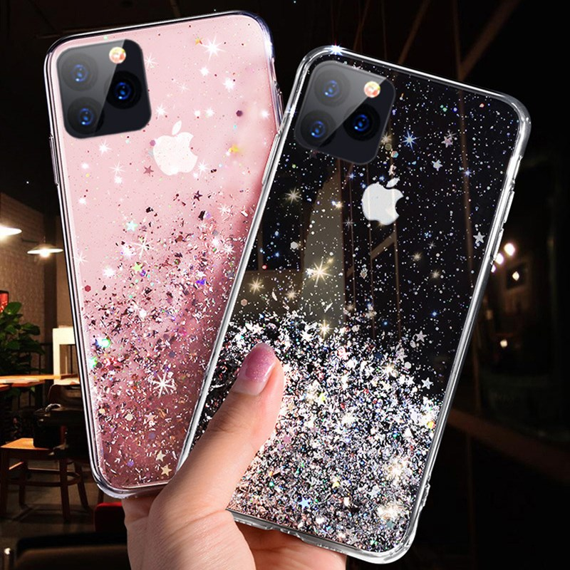 Für <font><b>iPhone</b></font> 11 Pro MAX Phone <font><b>Case</b></font> Slim luxus <font><b>Glitter</b></font> Glanz Weiche TPU Silikon Handy Fall Für <font><b>iPhone</b></font> 6 <font><b>6s</b></font> 7 8 Plus X XR XS MAX image