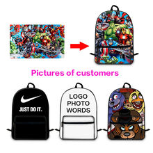 Unique Design Personality Backpack Students Schoolbag Women Bags Customized Cooler Lunch Box Mini Bag Purse Travel Accessories(China)