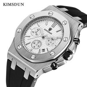Image 2 - Relojes de marca de lujo para hombre, reloj deportivo único de oro rosa, reloj de pulsera resistente al agua con fecha de cuarzo, Masculino