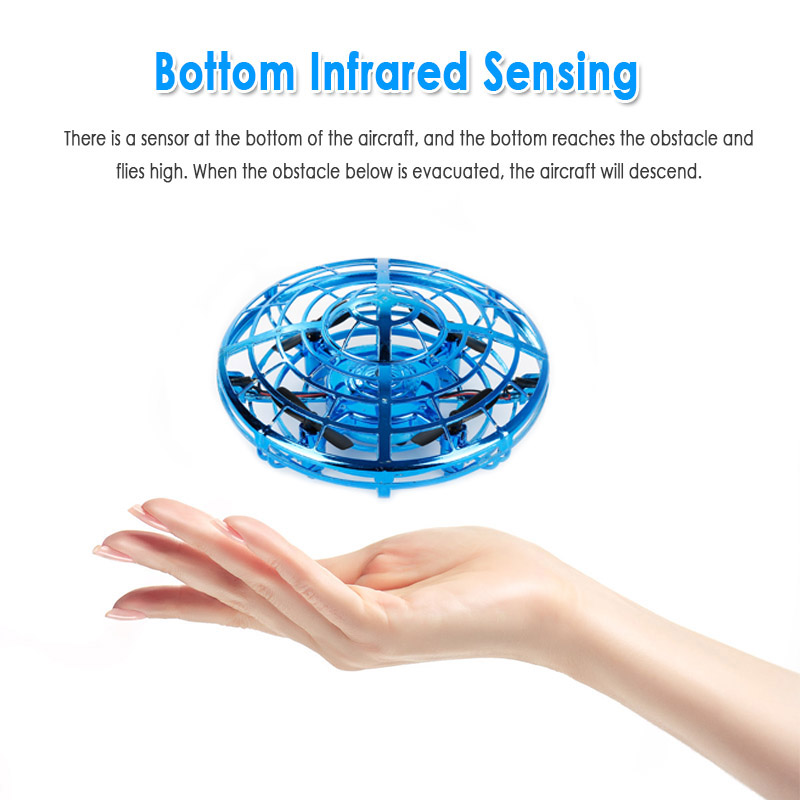 Anti-collision Flying Helicopter Magic Hand UFO Flying Aircraft Drone Toys  Electric Electronic Toy LED Mini Induction For Xmas