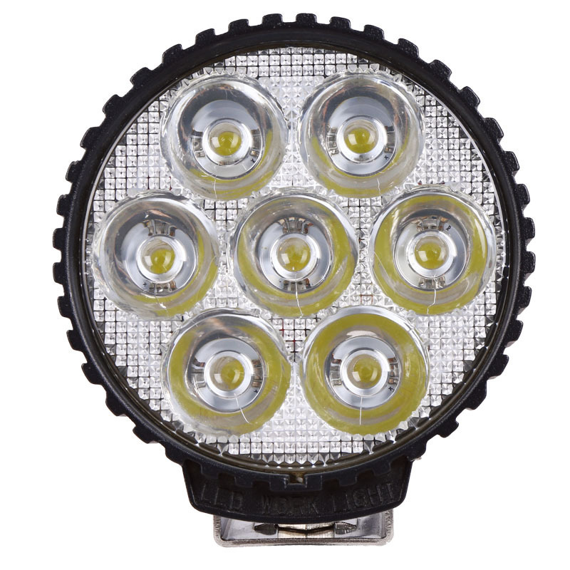 Manufacturer Direct Sales High Power Truck Headlamp Automobile Refitting Lamp 35W Round LED Work Lamp