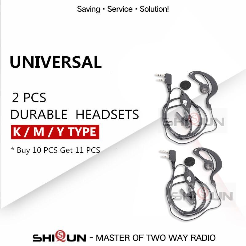 Durable Baofeng Headset Mic Finger PTT Earpiece For BAOFENG UV-5R Accessories UV-5RA UV-5RE TH-UV8000D Headset Earpiece BF-888S