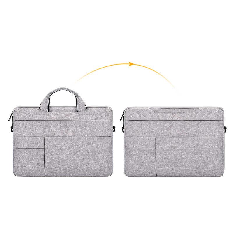 Laptop Tas 13.3 15.6 14 Inch Waterdichte Notebook Bag Sleeve Voor Macbook Air Pro 13 15 Computer Schouder Handtas Aktetas tas