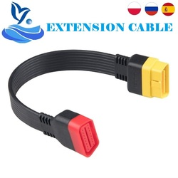 OBD II Extension Cable for Launch X431 V/V+/PRO/PRO3/Easydiag 3.0/Mdiag/Golo Main OBD2 Extended Connector Adapter