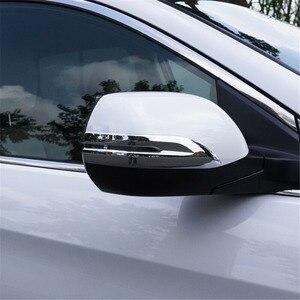 Image 1 - غطاء الكسوة الخلفية لهوندا CRV 2012 2013 2014 2015 2 قطعة سيارة الخارجي مرآة الرؤية الخلفية ملصقا غطاء ل CRV 2016 2017 2018