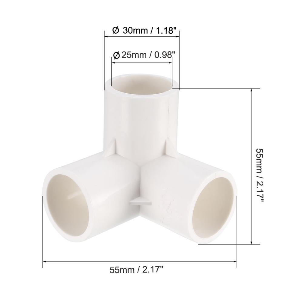 Uxcell PVC Fitting Elbow - PVC Furniture - PVC Elbow Fittings Connector for Residential Sprinkler Systems White Gray Blue 5Pcs