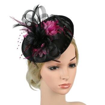 Nuevos sombreros de Clip para la cabeza de fiesta para mujeres y señoras sombreros diademas de tocado trajes de boda accesorios para el cabello
