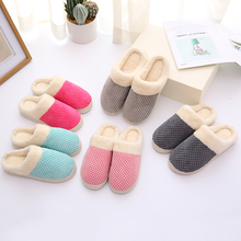 FZNYL Winter Cotton House Slippers Men Women Plush Soft Warm Comfortable Indoor Home Bedroom Floor Shoes Couple Plus Size 35-44 diji girls soft coral velvet floor home indoor slippers quiet cotton fluffy slippers for women comfortable shoes black