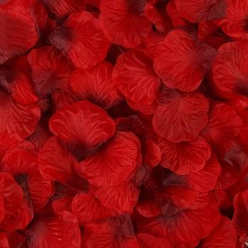 2000 sztuk sztuczne płatki róż ślub płatek kolorowe jedwabne akcesoria kwiatowe tanie i dobre opinie Poliester CN (pochodzenie) 150g WXTE6EE400627-22