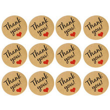 Thank You Sealing Crafts Wedding love Heart Letter Card candy/biscuit/cookie Xmas greeting DIY Sticker Labels(China)
