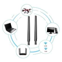 1Pc Router Antenne 6DBI Dual Band 2.4Ghz 5Ghz 5.8Ghz Router Antenne Wifi RP-SMA Voor Asus N6B4(China)