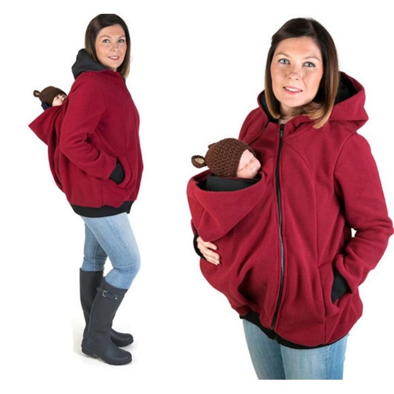 European Women Warm Kangaroo Baby Carrier Coat Newborn Baby Rape Sack Sling Hipseat Backpack Carrier Presenting Baby Carrier