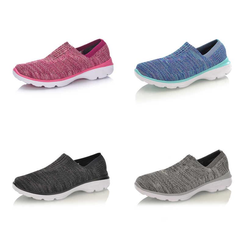 Li-Ning Для женщин легко Walker образа жизни; Текстильная дышащая Спортивная обувь светильник Фитнес подкладка Ли Нин спортивная обувь AGCM112 YXB048