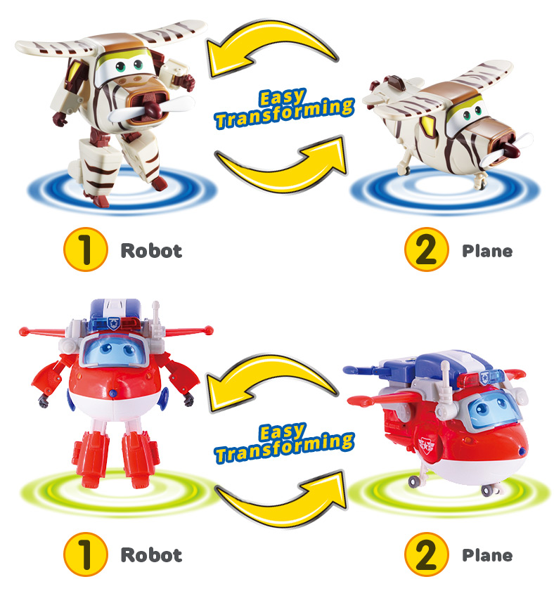 Super Wings Transforming 5 inch Airplane Robots 15
