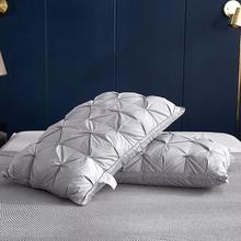 49Goose down Pillow 48*74cm 3D Bread White Duck/Goose Down Feather Pillow Standard Antibacterial Keep warm Pick flowers pillow