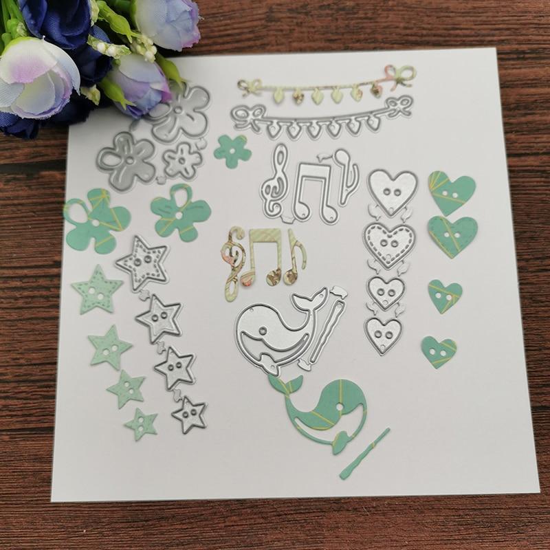 6pcs/pack Metal Cutting Dies Stencils Die Cut For DIY Scrapbooking Album Paper Card Embossing