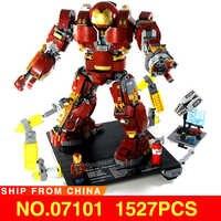 Homem de ferro hulkbuster tijolos compatível legoed 76105 marvel série filme super heros vingadores modelo blocos de construção crianças brinquedos presente