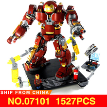 Hulkbuster LegoEAS Marvel Super Heros Ironman 76105 Avengers Set Model Building Kit Bricks Stacking Blocks Kids Toys Gifts 07101