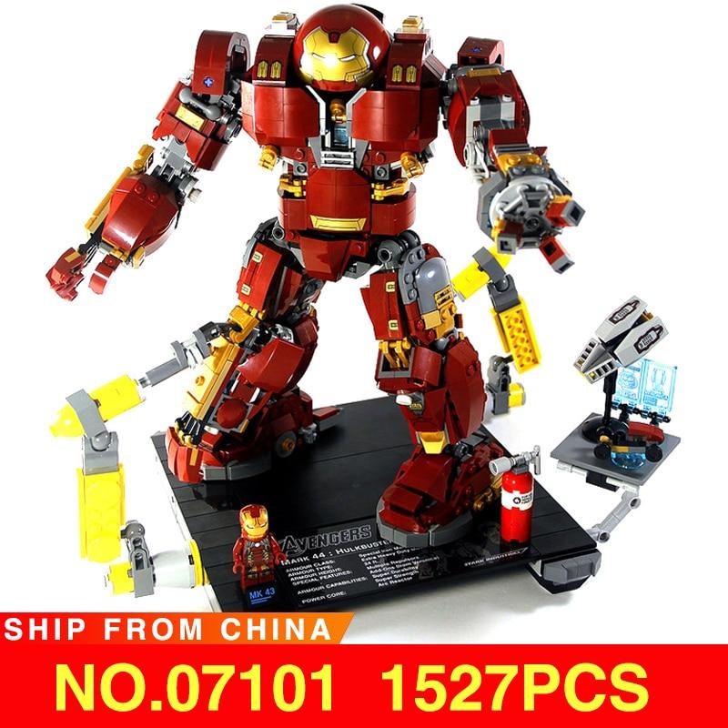 Iron Man Hulkbuster Bricks Compatible Legoed 76105 Marvel Movie Series Super Heros Avengers Model Building Blocks Kids Toys Gift