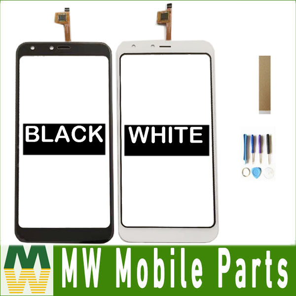 For BQ Mobile BQ-5301 Strike View BQ5301 BQ 5301 Touch Screen Glass Lens Digitizer Black White With Tools+Tape