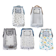 Espreguiçadeira de bebê premium para o sono do co, ninho natural durável do bebê do algodão 100%, perfeito portátil macio para viajar