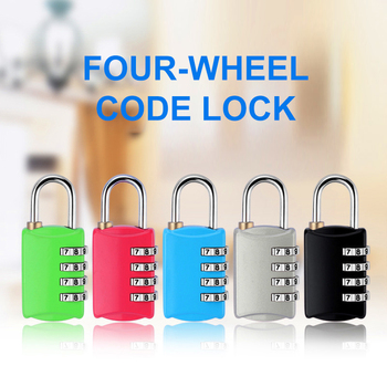 New Arrival 4 Dial Digit Password Lock Combination Suitcase Luggage Metal Code Password Lock Padlock For Toolbox Gym Locker 2020 image
