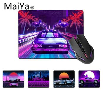 Maiya Top Quality Neon Retrowave synthwave car Silicone Pad to Mouse Game Top Selling Wholesale Gaming Pad mouse image