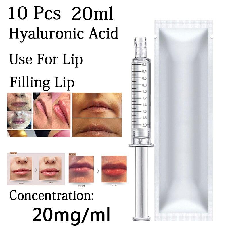 10 pçs novo 20ml ácido hialurônico para o enchimento rosto lábios boca dodo para atomizador caneta hialurônica