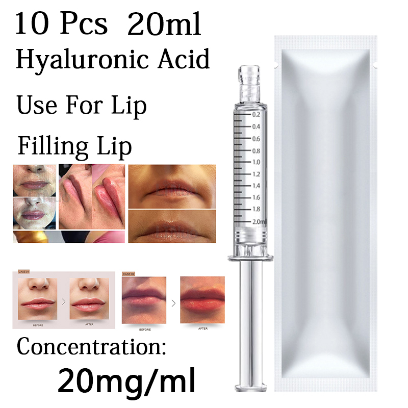 10 pièces nouveau 20ml acide hyaluronique pour remplissage visage lèvres DoDo bouche pour atomiseur stylo hyaluronique