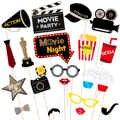 Tinksky 21 pièces Hollywood Style fête masque Photo accessoires Bachelorette fête mariage décor moustache fête d'anniversaire fournitures