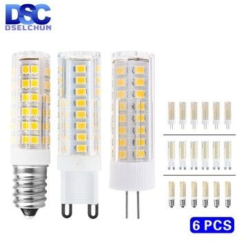 6pcs/lot G4 G9 E14 LED Bulb 3W 4W 5W 7W Mini Lamp 220V Corn SMD2835 Replace 30W 40W 60W Halogen Chandelier Lights