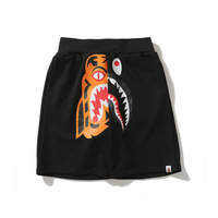 2019 Japanese Original Tiger Animal Pattern Printing Splicing Pure Cotton OverSize Casual Shorts Punk Style