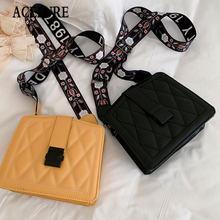 Модные однотонные сумки через плечо для женщин, подходящие ко всему сумки-мессенджеры через плечо из искусственной кожи, Женская Повседнев...