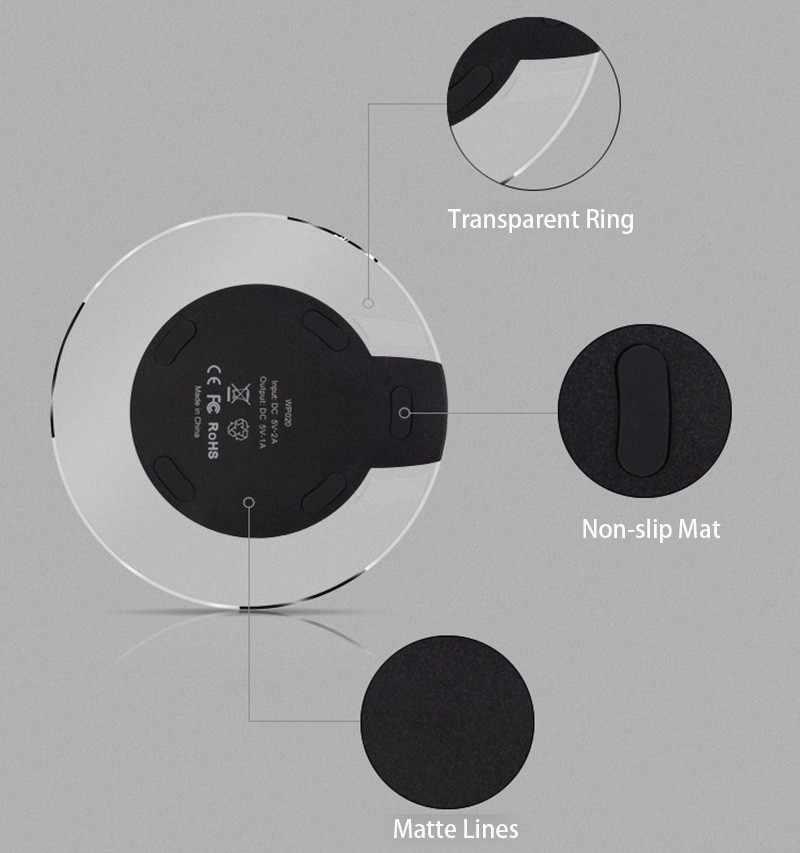 QI inalámbrico cargador rápido para iPhone X 8 XS Max XR para Samsung S10 9 8 7 Plus Xiaomi mezcla estación de muelle de almohadilla de carga inalámbrica 3 2s