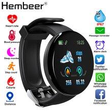 2019 Bluetooth חכם שעון גברים דם לחץ עגול Smartwatch נשים שעון D עמיד למים גשש כושר WhatsApp עבור אנדרואיד iOS