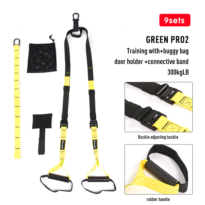 Поддерживающие повязки для фитнеса, подвешивающие лямки для тренировок в тренажерном зале, Кроссфит, подвеска, Тяговая веревка для упражнений-4