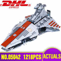 DHL 05042 Star Series Wars The Lepining 8039 Republic Fighting Cruiser Building Blocks Bricks Toys Model Children Christmas Gift