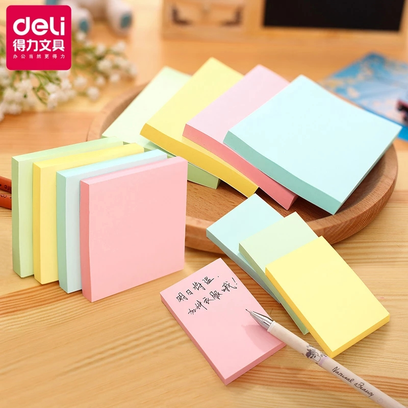 1 pad lot 51*76mm note paper 100 page sticky note Sticker Post-it label Sticker s Note