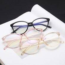 Simple oeil de chat Anti-bleu lunettes pour femmes femme lunettes optiques lunettes transparente anti lumière bleue JH18012